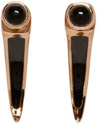 Pamela Love - Black Rose Gold And Onyx Earrings - Lyst
