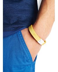 DSquared² | Yellow Leather Bracelet for Men | Lyst