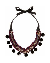 River Island | Red Pom Pom Embellished Necklace | Lyst