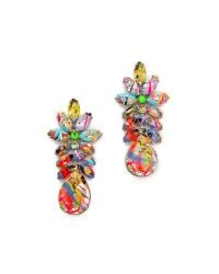 Tom Binns | Multicolor A Riot Of Color Glowinthedark Swarovski Crystal Earrings | Lyst