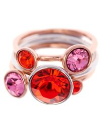 Ted Baker | Pink Jackie Jewel Stack Ring | Lyst