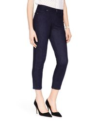 kate spade new york | Blue Delancey Street Cropped Jean | Lyst