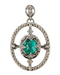 Armenta | Green New World Oval Champagne Diamond Enhancer | Lyst