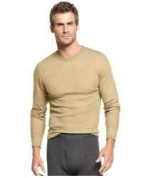 Alfani - Natural Waffle Knit Thermal Long Sleeve T Shirt for Men - Lyst
