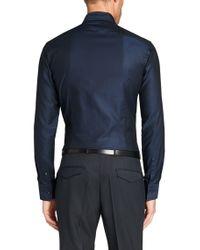 BOSS Blue Slim-fit Shirt In Cotton: 'jason' for men