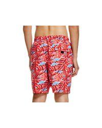 Vineyard Vines - Red Batik Fish Chappy Swim Trunks for Men - Lyst