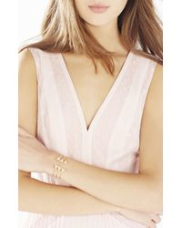 BCBGMAXAZRIA - Metallic Pave Triangle Layered Charm Cuff - Lyst