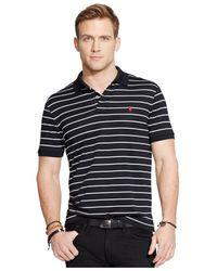 Polo Ralph Lauren | Black Striped Performance Mesh Polo Shirt for Men | Lyst