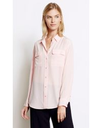 Equipment | Pink Signature Silk Shirt | Lyst