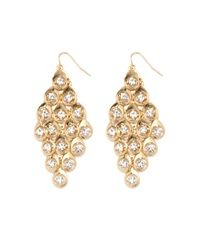 Forever 21 | Natural Rhinestone Chandelier Earrings | Lyst