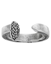 Giles & Brother | Metallic Railroad Spike Ring W/ Pave | Lyst