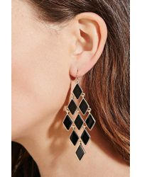 Forever 21 - Metallic Faux Stone Chandelier Earrings - Lyst