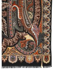 Etro - Multicolor Delhi Wool & Silk Blend Scarf - Lyst