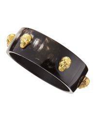 Ashley Pittman | Black Fuvu Dogo Dark Horn Skull Bangle | Lyst