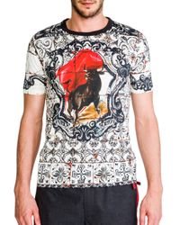 Dolce & Gabbana | White Short Sleeve T-Shirt for Men | Lyst