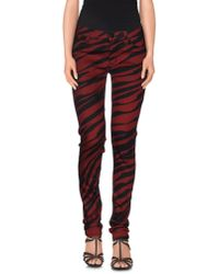 Hudson Jeans - Red Denim Trousers - Lyst
