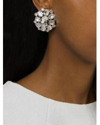 DSquared² | White Embellished Clip-On Earrings | Lyst