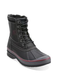 Clarks | Black 'milwright Hi' Snow Boot for Men | Lyst