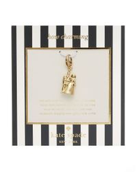 kate spade new york | Metallic How Charming Cake Topper Charm | Lyst
