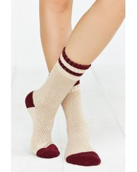 Urban Outfitters - Purple Striped Slouchy Crew Sock - Lyst
