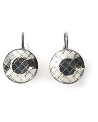 Bottega Veneta - Metallic Intrecciato Embossed Earrings - Lyst