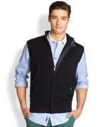 Façonnable | Blue Wool Cotton Vest for Men | Lyst