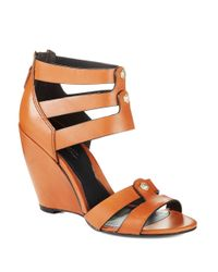 Kenneth Cole | Brown Balfour Wedge Sandals | Lyst