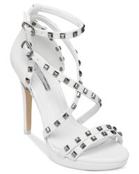 BCBGeneration - White Gunner Platform Dress Sandals - Lyst