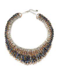 Nakamol - Metallic Czech Crystal Statement Necklace - Lyst