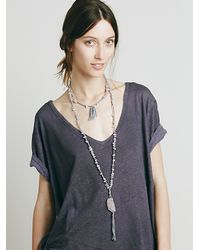 Free People | Metallic Womens Neptunes Net Pendant | Lyst
