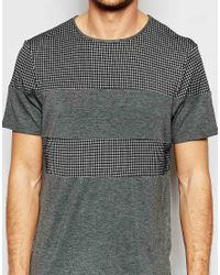 Another Influence - Gray Nother Influence Check Cut And Sew T-shirt for Men - Lyst