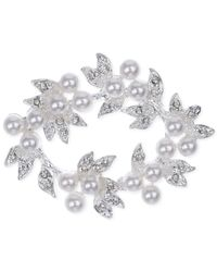 Jones New York | Metallic Open Work Pearl Cluster Pin | Lyst