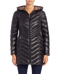 Laundry by Shelli Segal - Black Packable Puffer Coat - Lyst