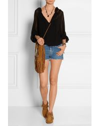 Saint Laurent - Brown - Suede Moccasin Ankle Boots - Tan - Lyst