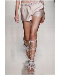 Alberta Ferretti | Pink Stretch Shorts | Lyst