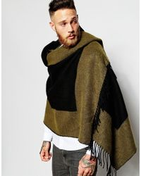 ASOS - Blanket Scarf In Black And Khaki for Men - Lyst