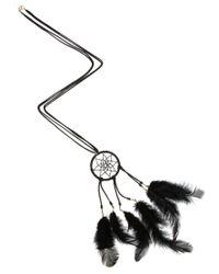ASOS - Black Dreamcatcher Feather Necklace - Lyst