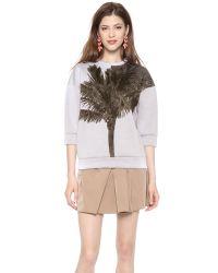 N°21 - Gray Sweatshirt with Palm Tree - Lyst