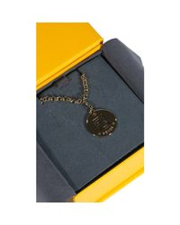 Fendi - Metallic Bijoux Long Necklace With Charming 80cm - Lyst