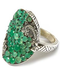 Stephen Dweck - Green Silver Tsavorite Amethyst Orb Ring - Lyst