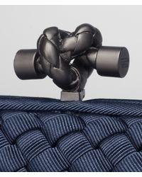 Bottega Veneta - Blue Prusse Intrecciato Silk Stretch Knot - Lyst