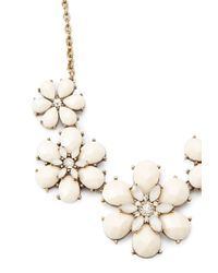 Forever 21 - Metallic Faux Gem Floral Necklace - Lyst