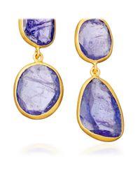 Pippa Small - Purple Tanzanite Double Collette Earrings - Lyst