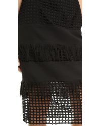 Sea - Fringed Pencil Skirt - Black - Lyst