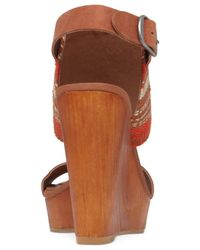 Lucky Brand | Brown Women's Lapaloma Platform Wedge Sandals | Lyst