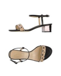 Lola Cruz - Black Sandals - Lyst