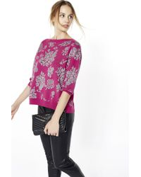 Liu Jo | Purple Open Back Damask Jumper | Lyst