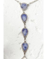 Forever 21 | Blue Faux Stone Hand Chain | Lyst