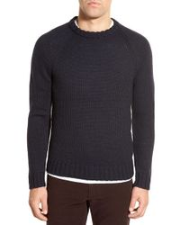 Bonobos | Blue Raglan Crewneck Sweater for Men | Lyst