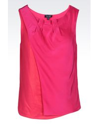 Armani Jeans | Pink Satin Top | Lyst